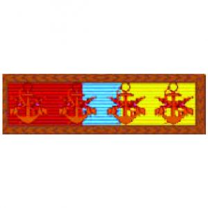 Barreta - Mérito Anfíbio Bronze ( 4 Âncoras )