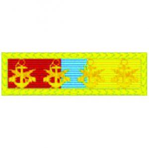 Barreta - Mérito Anfíbio Ouro (4 Âncoras)