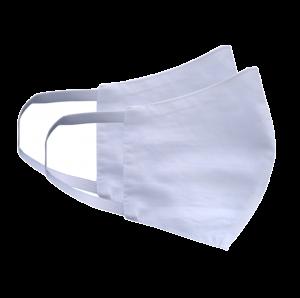 Kit com 2 Máscaras Social Antiviral e Antibacteriano de Proteção Permanente - Cor Branca
