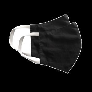 Kit com 2 Máscaras Social Antiviral e Antibacteriano de Proteção Permanente - Cor Preto