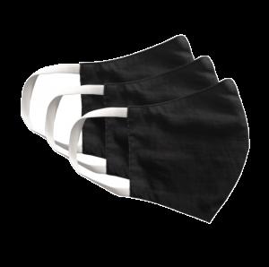 Kit com 3 Máscaras Social Antiviral e Antibacteriano de Proteção Permanente - Cor Preto