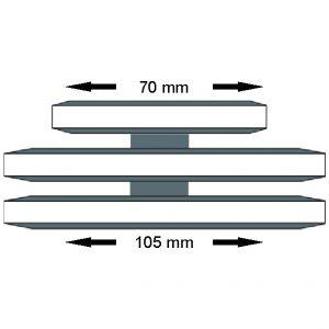 Trilho Triplo Duas – Bandeiras
